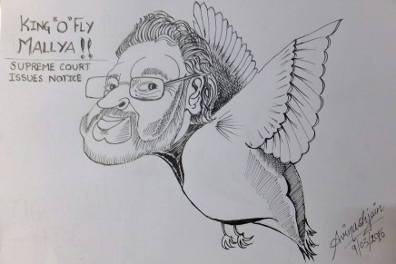 Artwork: Vijay Mallya and the flyingkingfisher