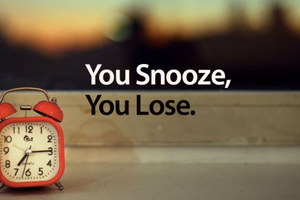 Stop Hitting Your Snooze Button
