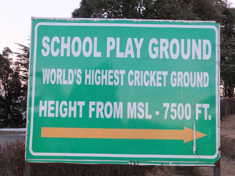 Highest cricket ground in the world