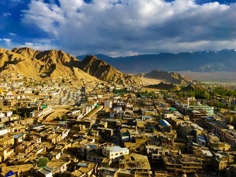 Aerial view of Ladakh