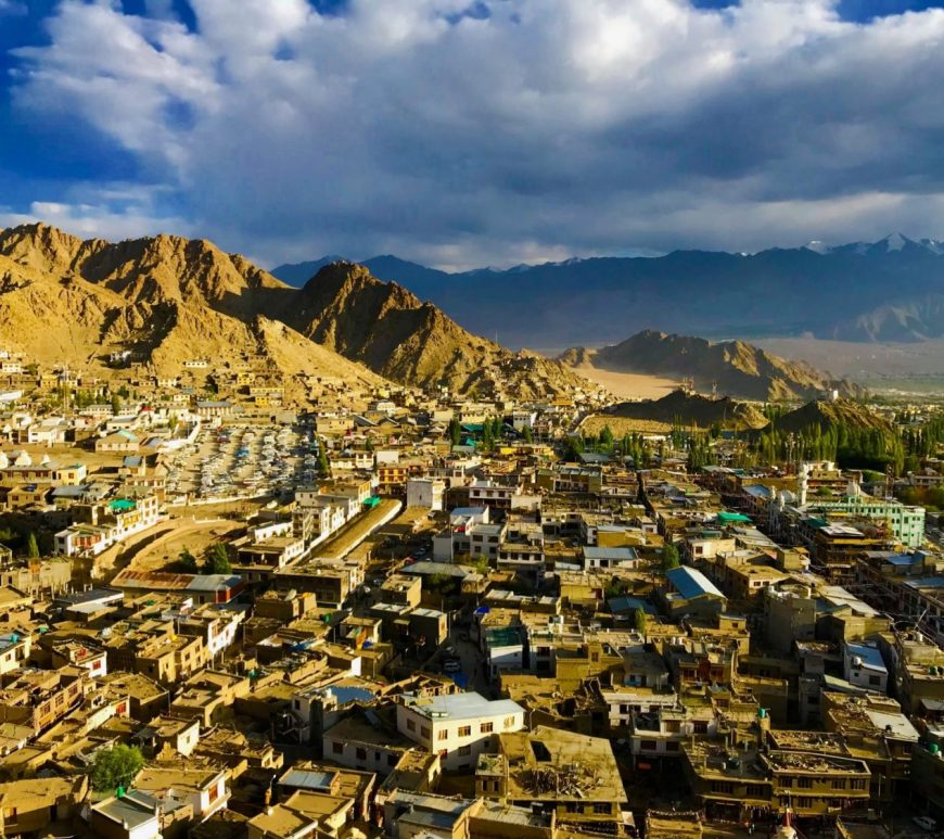 Aerial view of Ladakh