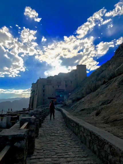 Leh Palace and the illuminating clouds