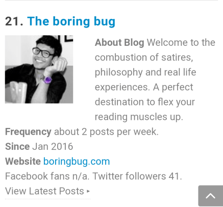 Boringbug Top 50 Introvert Blogs
